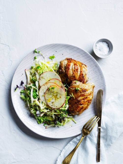 Grilled chicken + apple savoy slaw